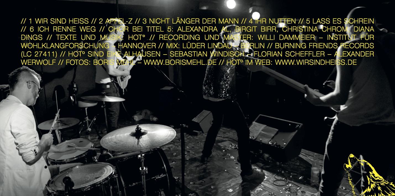 CD Cover HOT Bandfotos