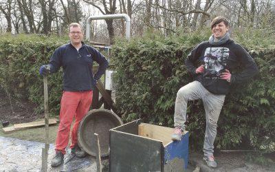 zweite Grube und die Wasserleitung