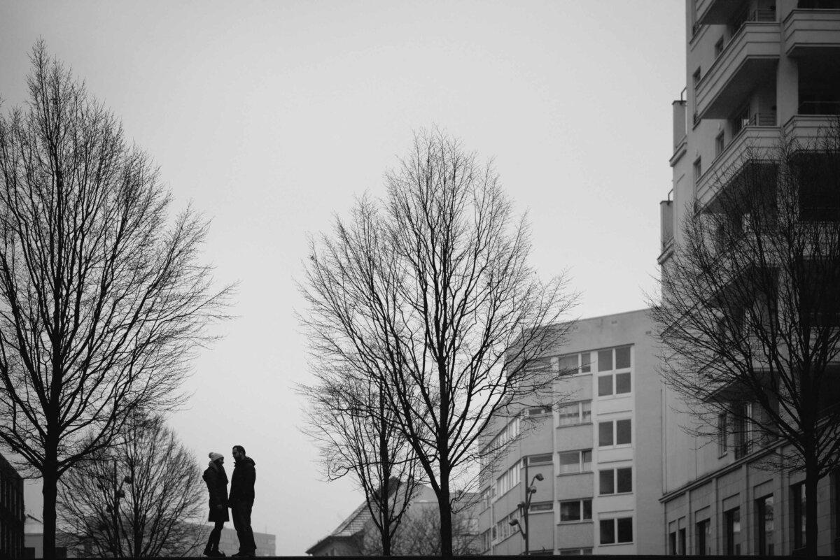 Paarfotos am Potsdamer Platz