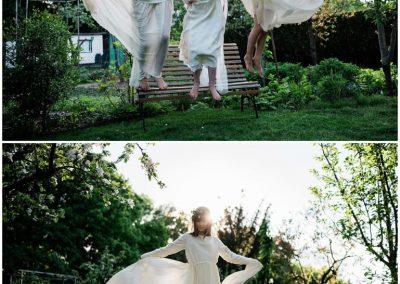 Eisheiligen Shooting mit Kleidern von Anne Wolf