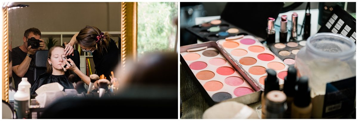 Professionelles Makeup und Hairstyling